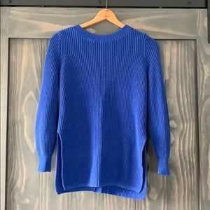 Loft Women Tunic Sweater with Open Back and Side.